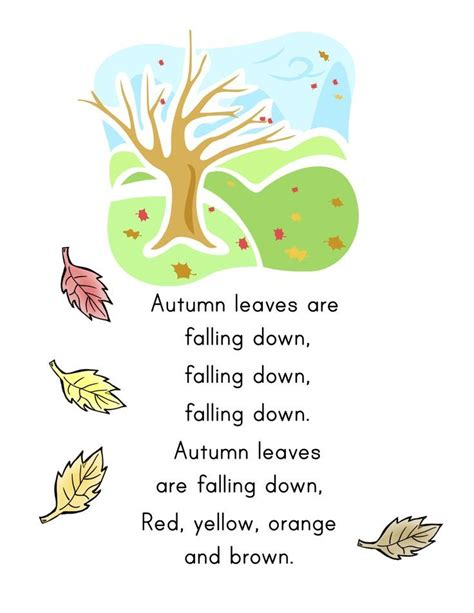 121 best rhymes and songs for toddlers and 366   e81d44f3465d5829dd990ac837a63154 preschool fall songs preschool music