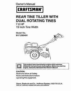 Craftsman Rear Tine Tiller Parts Diagram