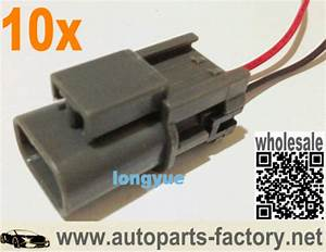 Longyue 10pcs 2 Way Alternators Repair Connector Harnesses 8