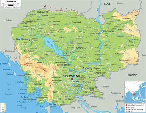 kambodscha fluss karte