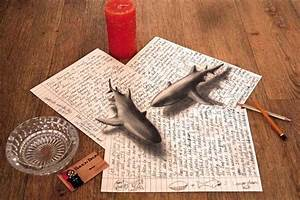 Illusion drawing of sharks #sharks #sea #paper | 3D ...