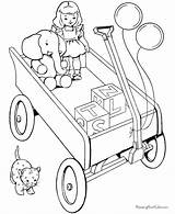Coloring Pages Christmas Toys Printable Toy Holiday Printing Help sketch template