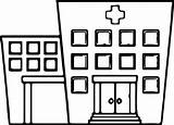 Hospital Coloring Printable Pages Template sketch template