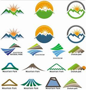 Abstract Mountains Logo 4 | AI format free vector download ...