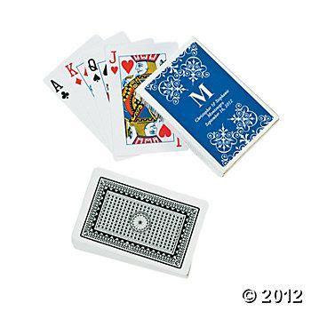 groomsmen  missing poker personalized playing cards monogram wedding wedding