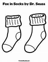 Bulletin Socks Fox Activities Coloring Preschool sketch template