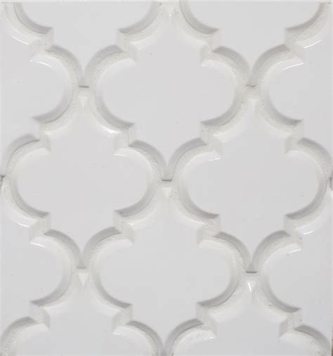white arabesque tile create thrilling ambience in your kitchen with beveled
