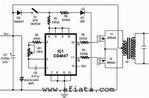 inverter electronic circuit diagram and layout With simple inverter circuit using cd4047