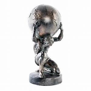 Statue Bouddha Maison Du Monde : statuette figurine atlas portant le monde dieu grec ~ Teatrodelosmanantiales.com Idées de Décoration