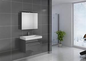 Badezimmer Set Grau : sam badezimmer set lunik 2tlg spiegelschrank grau 80 cm ~ Indierocktalk.com Haus und Dekorationen