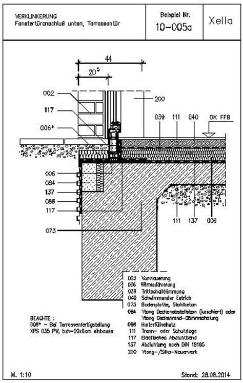 Bodentiefes Fenster Detail by Cad Detail 10 005a Fenstert 252 Ranschlu 223 Unten