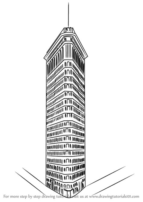 learn   draw flatiron building  places step