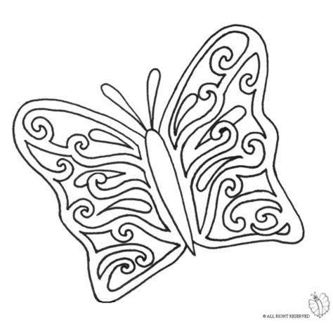 disegno  la bella farfalla da colorare  bambini