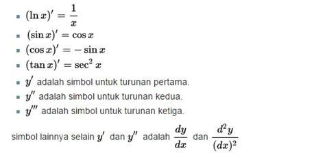 rumus turunan matematika  contoh soal lengkap rumus rumus