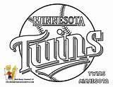 Coloring Twins Minnesota Baseball Sheet Pages Mlb Teams Boys Yescoloring Al Boss American sketch template