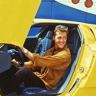De bugatti eb110 ss van michael schumacher staat te koop op internet. A young looking Michael Schumacher trying out his new wheels back in the early 1990's. . Bugatti ...