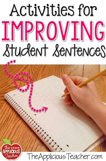 Activities And Ideas For Improving Student Sentences  Activity Ideas, Sentences And Activities