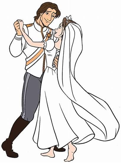 Rapunzel Disney Drawing Dance Flynn Clipart Tangled