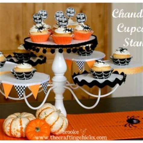 diy chandelier cupcake stand things tip junkie