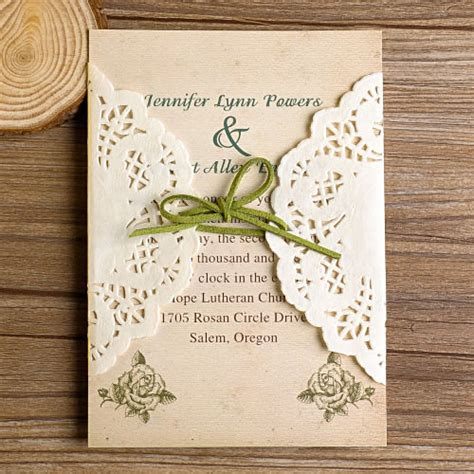 diy lace wedding invitations starting
