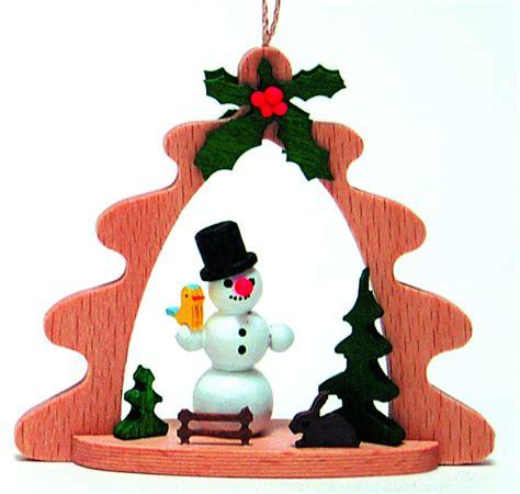 snowman german wood christmas tree ornament holiday decoration new made germany ebay