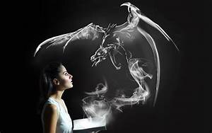 Drachen Schwarz Weiß : hintergrundbilder frau einfarbig fantasiekunst rauch drachen licht dunkelheit sinn ~ Orissabook.com Haus und Dekorationen