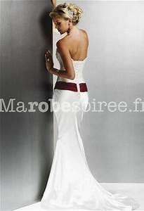 robe de mariee bustier sirene avec ceinture rouge With robe de mariée rouge avec bague homme
