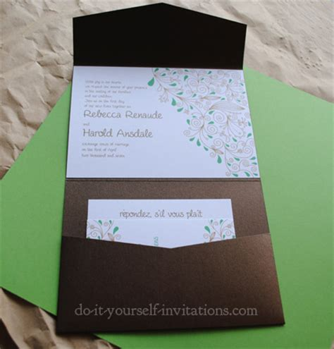 do it yourself wedding invitations templates invitation template and diy invitations how to