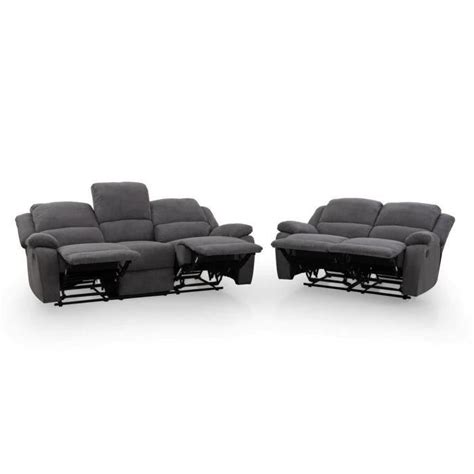 canap relax cdiscount relax ensemble canapés 3 places 2 places relaxation