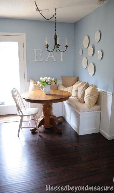 shaped banquette bench  corner  kitchen paint