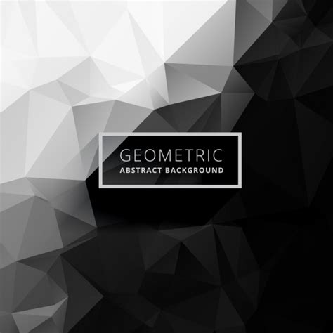 Abstract Black And White Design Background by Black And White Low Poly Background Vector Free