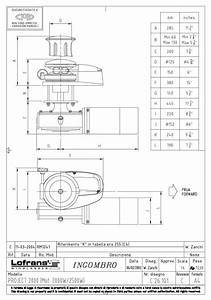 Project 2000 Capstan 2300w 24vdc Vertical Electric Winch