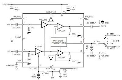Tda Low Noise Power Amplifier Electronic Circuit