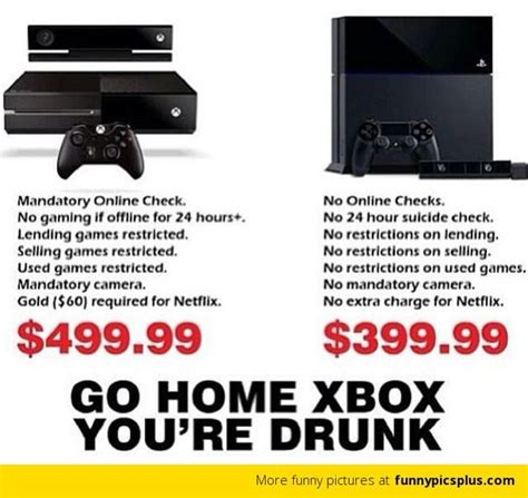 Ps4 Meme - ps4 vs xbox one meme funny ps4 vs xbox one jokes share yours too redflagdeals com