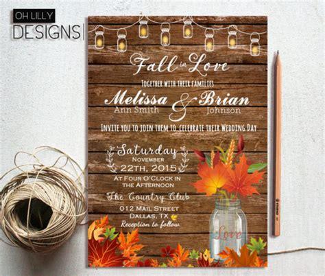 fall wedding invitation templates  sample