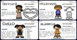 Emocionario Imágenes Educativas Trabajamos las emociones Tarjetas de mini actividades