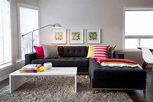 Decoração de sala com sofá preto - 12 Fotos Salas Pequenas