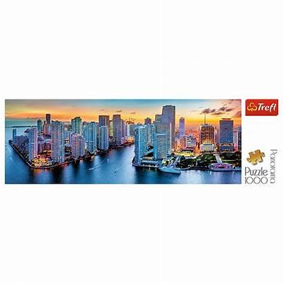 Puzzle Miami Trefl Panorama Piece Dark Zmroku