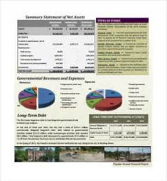Free Non Profit Annual Report Template by Sle Annual Financial Report Template 9 Free