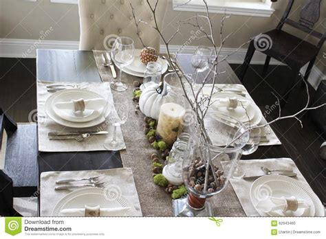 beautiful centerpieces for dining room table table setting stock photo image 62943460