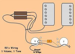 50 U0026 39 S Wiring For 1 Volume And 1 Tone