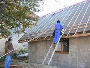 Que Mettre Sur Le Toit D Une Pergola : toiture autoconstruction cologique d 39 une maison en paille et ossature bois part 4 ~ Melissatoandfro.com Idées de Décoration