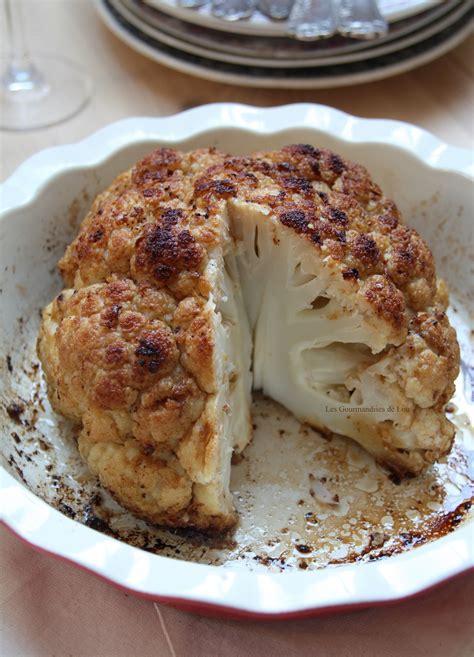 cuisine choux fleur chou fleur rôti au four les gourmandises de lou