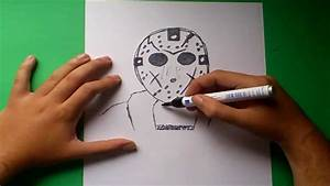 Como dibujar a Jason Voorhees paso a paso Viernes 13 How to draw Jason Voorhees Friday the