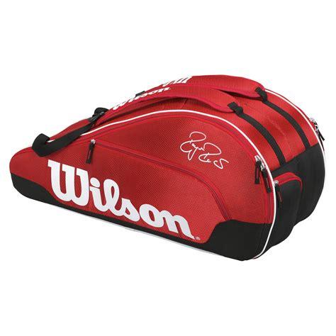wilson federer team iii  racket bag sweatbandcom
