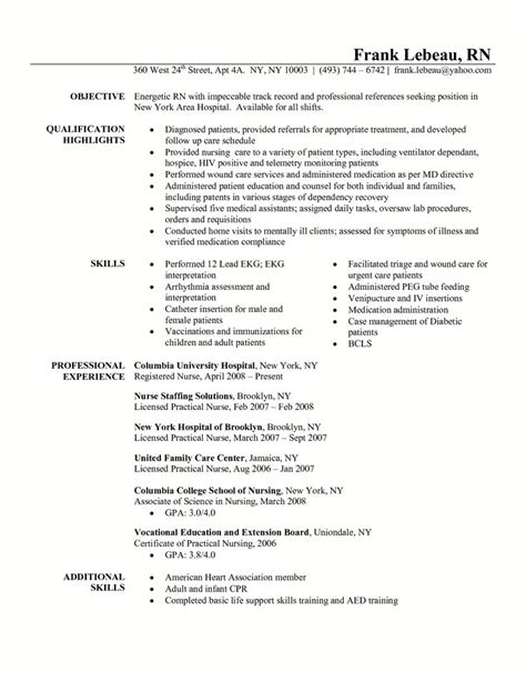 Specific Skills Area Nursing Resume by Resume For Triage Http Www Resumecareer Info