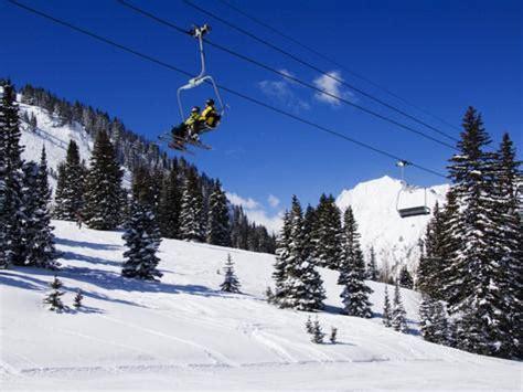 chair lift carries skiers at alta alta ski resort salt