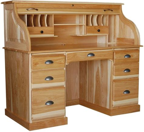 Wood Furniture by Amish Rolltop Desk Home Office Furniture Solid Wood New Ebay