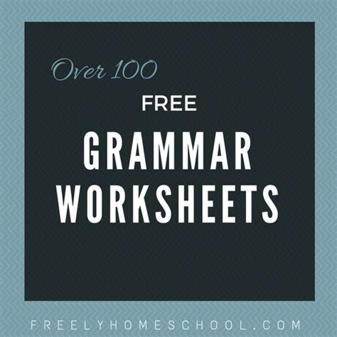 free grammar worksheets for elementary grades