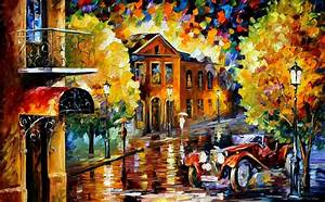 Leonid Afremov, oil on canvas, palette knife, buy original ...